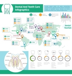 Dental infographics vector