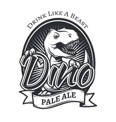 dinosaur craft beer brewery logo concept T vector image