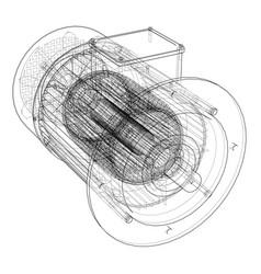 electric motor sketch vector image
