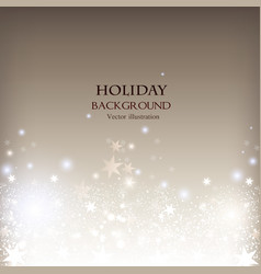 Elegant Christmas shining background with stars vector image