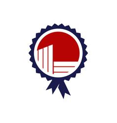 emblem real estate logo template vector image