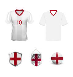 England football jersey abstract image vector