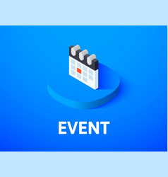 Event isometric icon isolated on color background vector