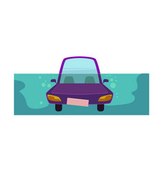 Flat cartoon stylized drowing car vector