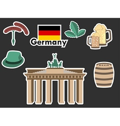 German stickers Patches elements Germany vector