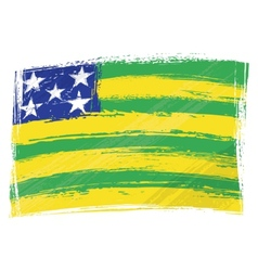 Grunge Goias flag vector image