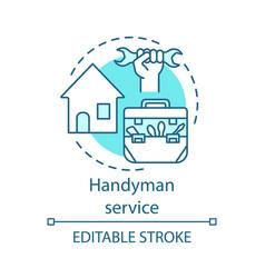 Handyman service concept icon home service idea vector