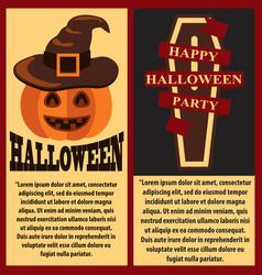 happy halloween postersset vector image