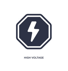 High voltage icon on white background simple vector