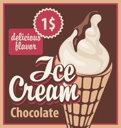 Ice cream chocolate vector