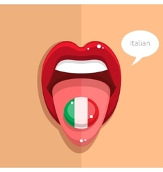 Italian language concept vector