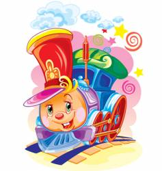 magic steam locomotive vector image