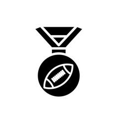 Medal american football icon simple design vector