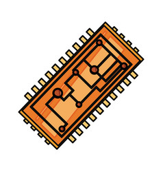 microchip integrated circuit vector image vector image