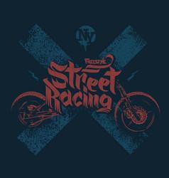 Motorcycle t shirt prints vector