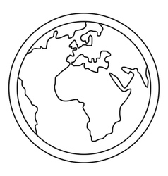 Planet Earth icon outline style vector