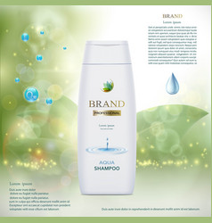 Plastic tube with hair shampoo product brand vector