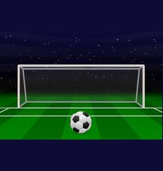 Realistic football goal vector
