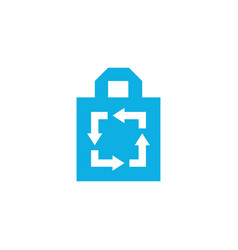 Recycle tote bag logo icon vector