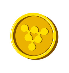 ripple virtual money currency vector image