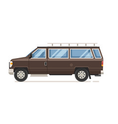 road family van icon vector image