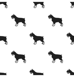 Schnauzer icon in black style for web vector