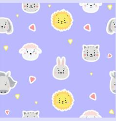 Seamless patterns children collection cute vector