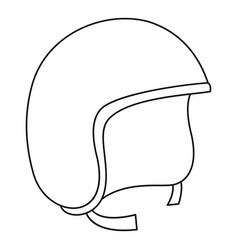 segway helmet icon outline style vector image