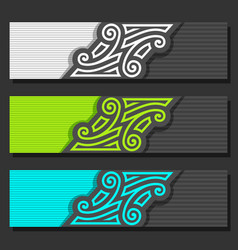 Set of banner templates vector