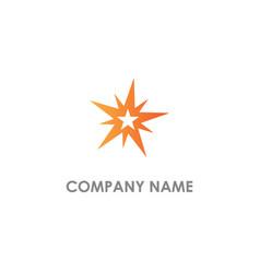 Star shine abstract logo vector