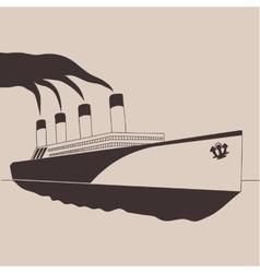 Steamship vector