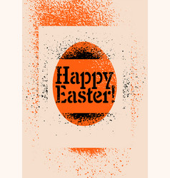 stencil spray style grunge easter greeting card vector image