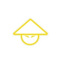 Sticker japanese cap vector
