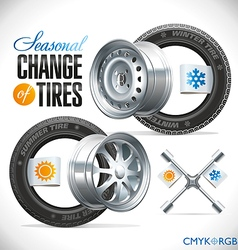 Tire Change Season vector image
