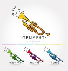 trumpet logo vector image