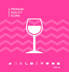 Wineglass symbol icon vector
