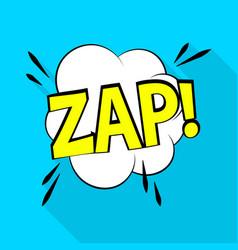 zap icon pop art style vector image