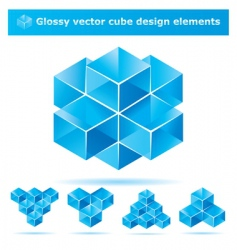 cube design elements vector image vector image
