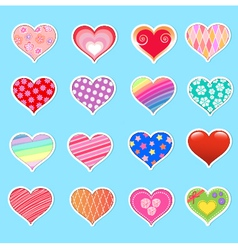 hearts collection vector image vector image