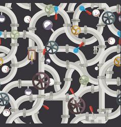 industrial pipeline seamless pattern vector image