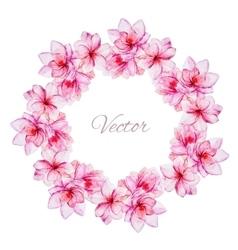 Nice watercolor floral wreath vector image vector image