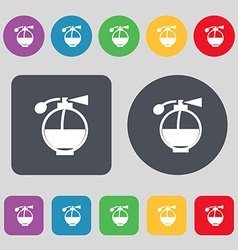 Perfume icon sign a set of 12 colored buttons flat vector