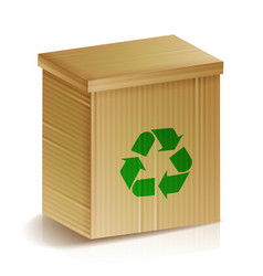 recycle box realistic blank ecologic craft vector image vector image
