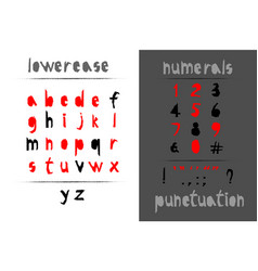 trendy realistic torn paper art alphabet set on vector image vector image