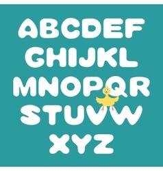 Hand-drawn alphabet vector image