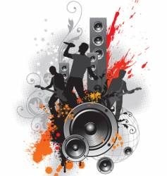 rock band vector image vector image