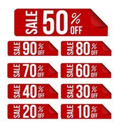 Sale percent sticker price tag flat design vector