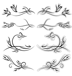 set of patterns for design on a white background vector image