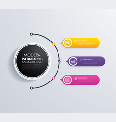 timeline 3 infographic design and marketing vector image vector image