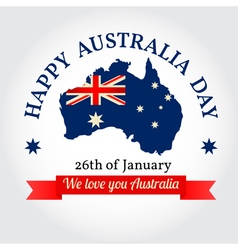 We love you Australia badge label logo greeting Ca vector image